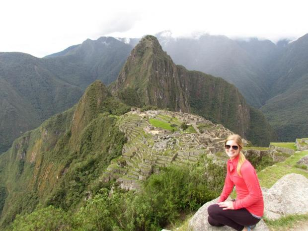 Photo taken on Machu Picchu; Wayna Picchu & the citadel in the background