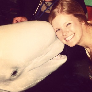 Playing with Beluga Whales at the Chicago Shedd Aquarium